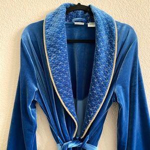 Vintage 90's Blue Regal Velor Robe